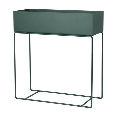 Ferm Living plante boîte en métal vert foncé 60x25x65cm