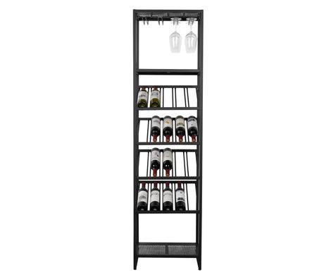Zuiver Weinschrank Cantor S schwarz Metall 45x35x180cm