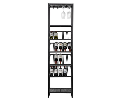 Zuiver Wine cabinet Cantor S black metal 45x35x180cm