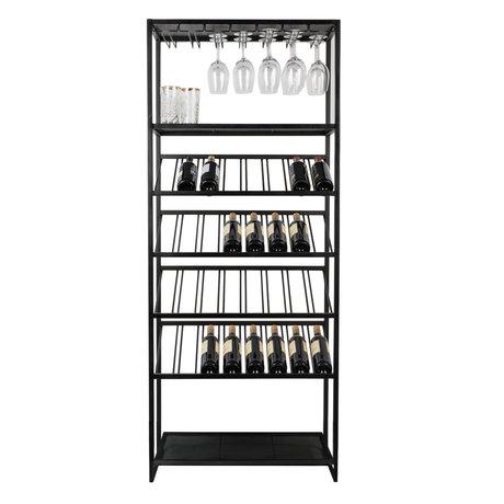 Zuiver Weinschrank Cantor schwarz Metall 75x35x180cm