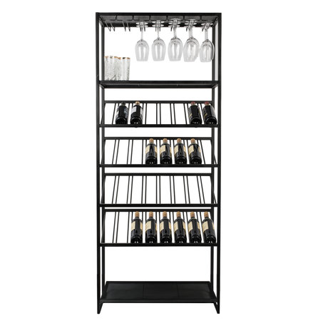 Zuiver Wine cabinet Cantor black metal 75x35x180cm