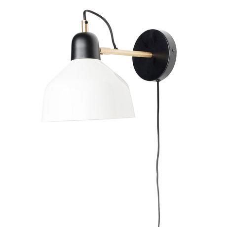 Zuiver Wandlamp Skala zwart wit metaal 19x32x22cm