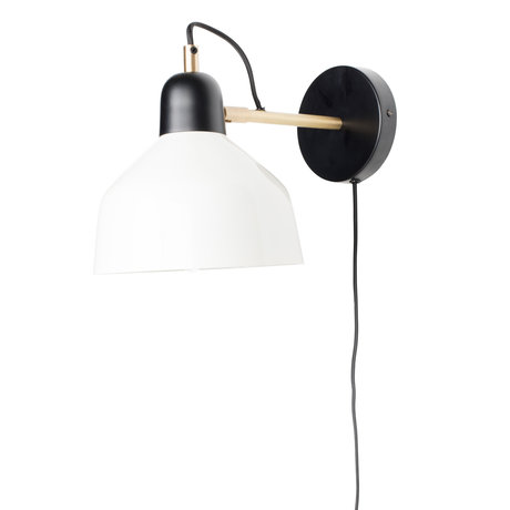 Zuiver Wandlamp Slkala zwart wit metaal 19x32x22cm