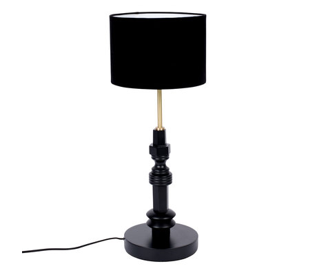 Zuiver Table lamp Totem black metal textile 25.5x64.5cm
