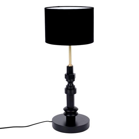 Zuiver Tafellamp Totem zwart metaal textiel 25,5x64,5cm