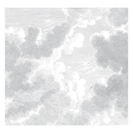 KEK Amsterdam Tapete Gravierte Wolken Schwarz-Weiß-Vlies-Tapete 292,2 x 280 cm (6 Blatt)