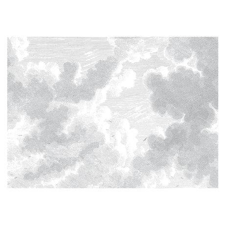 KEK Amsterdam Tapete Gravierte Wolken Schwarz-Weiß-Vlies-Tapete 389,6x280cm (8 Blatt)