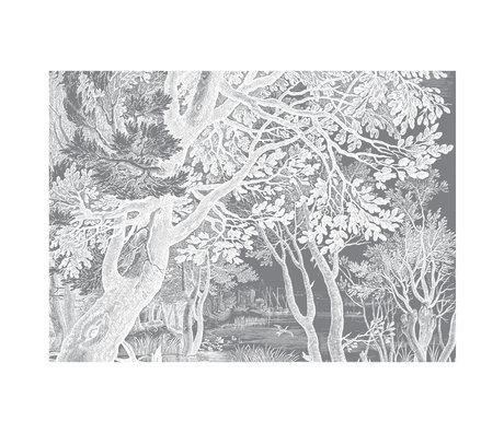 KEK Amsterdam Papier Peint Papier Peint intissé Gravé Paysages noir et blanc 389.6x280cm (8 feuilles)