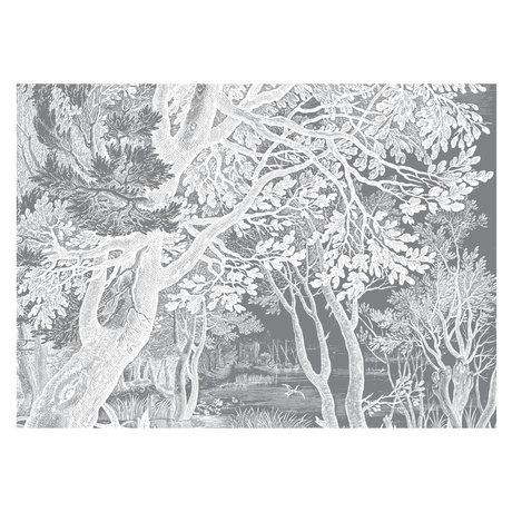 KEK Amsterdam Wallpaper Engraved Landscapes black and white non-woven wallpaper 389.6x280cm (8 sheets)