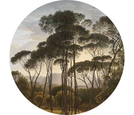KEK Amsterdam Papier peint cercle XL Paysages de l'âge d'or papier peint intissé multicolore Ø237.5cm