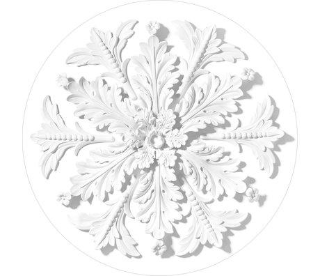 KEK Amsterdam Wallpaper circle Ornament white non-woven wallpaper Ø190cm