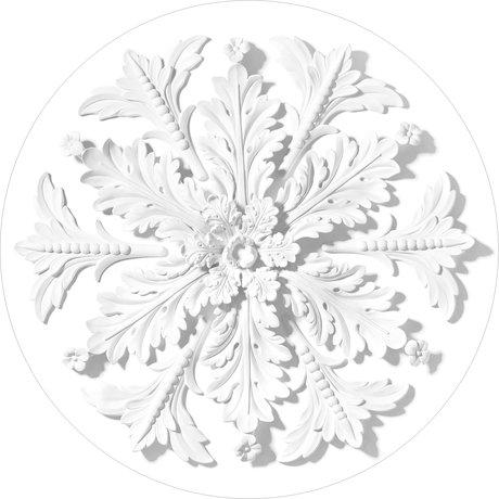 KEK Amsterdam Behang cirkel Ornament wit vliesbehang Ø190cm