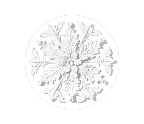 KEK Amsterdam Tapetenkreis Kleine Verzierung weiße Vlies-Tapete Ø142,5 cm