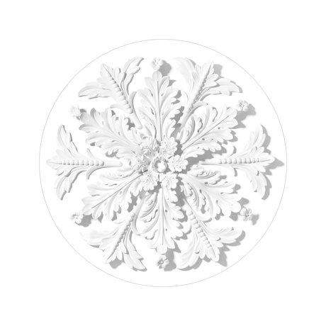 KEK Amsterdam Papier peint cercle Small Ornament papier peint intissé blanc Ø142,5cm
