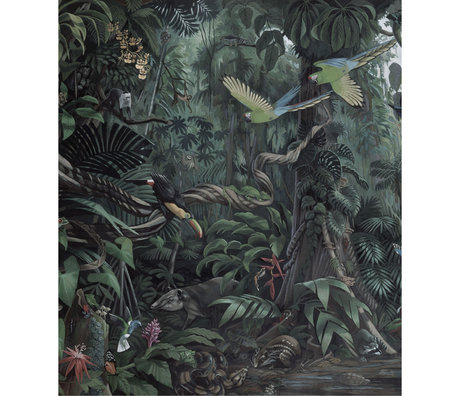 KEK Amsterdam Panneau de papier peint XL Papier peint intissé multicolore Paysages tropicaux 190x220cm