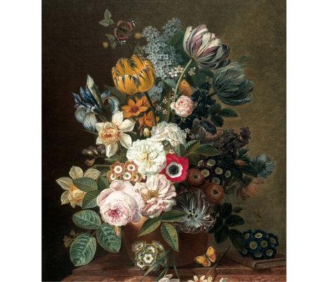 KEK Amsterdam Papier peint panneau XL Fleurs de l'âge d'or multicolore papier peint intissé 190x220cm