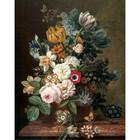 KEK Amsterdam Wallpaper panel Golden age flowers multicolour non-woven wallpaper 142.5x180cm