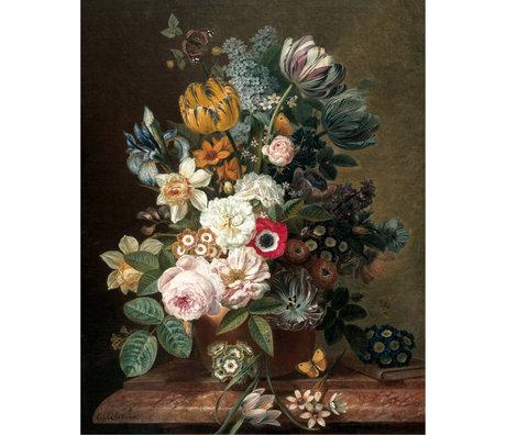 KEK Amsterdam Panneau de papier peint intissé multicolore Fleurs de l'âge d'or 142,5x180cm