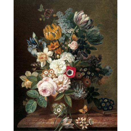 KEK Amsterdam Tapetentafel Golden Age Blumen mehrfarbige Vlies Tapete 142,5x180cm