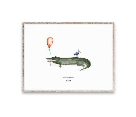 Paper Collective Poster Coco le Crocodile papier multicolore 30x40cm