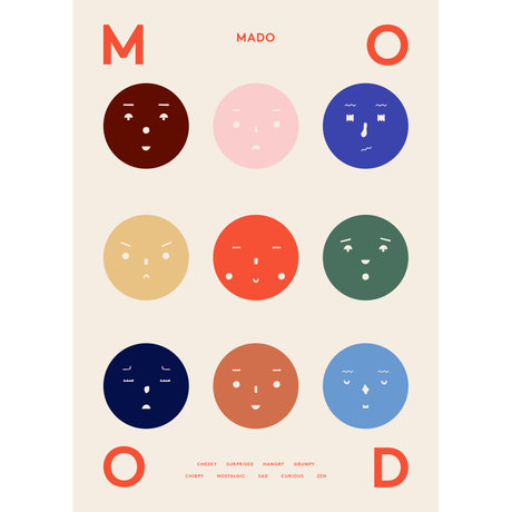 Paper Collective Poster 9 Moods multicolour papier 50x70cm