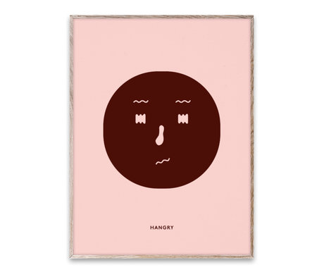 Paper Collective Poster Hangry Feeling paper multicolour 30x40cm