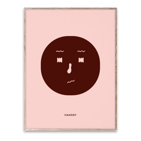 Paper Collective Poster Hangry Feeling papier multicolore 30x40cm