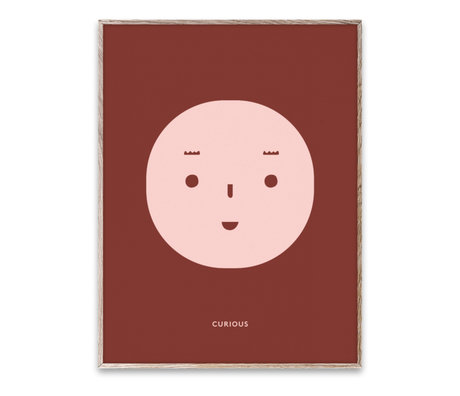 Paper Collective Poster Curious Feeling mehrfarbiges Papier 30x40cm