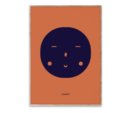 Paper Collective Poster Chirpy Feeling mehrfarbiges Papier 30x40cm