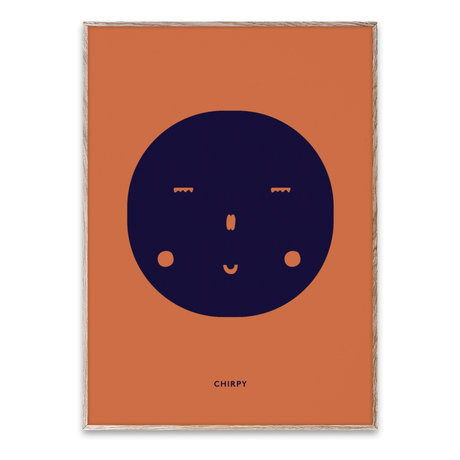 Paper Collective Poster Chirpy Feeling mehrfarbiges Papier 50x70cm