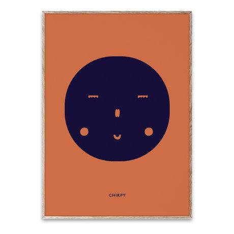 Paper Collective Poster Chirpy Feeling multicolore sur papier 50x70cm