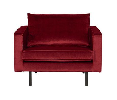 BePureHome Fauteuil Rodeo rood fluweel velvet 105x86x85cm