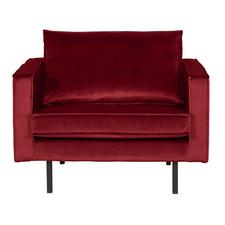BePureHome Sessel Rodeo roter Samt Samt 105x86x85cm