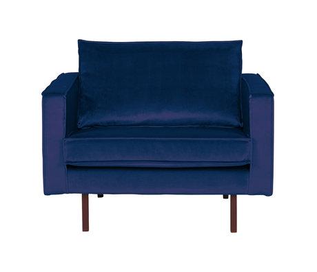 BePureHome Fauteuil Rodéo Nightshade velours velours bleu foncé 105x86x85cm