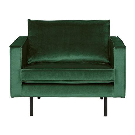 BePureHome Fauteuil Rodeo Green Forest groen fluweel velvet 105x86x85cm