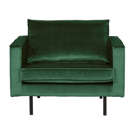 BePureHome Fauteuil Rodeo Green Forest velours velours vert 105x86x85cm