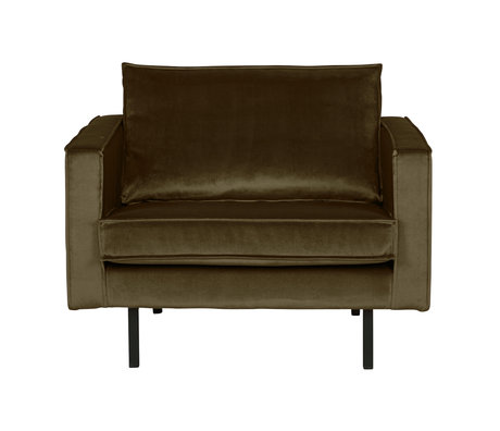 BePureHome Armchair Rodeo Green Hunter green velvet velvet 105x86x85cm