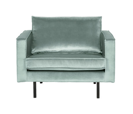 BePureHome Armchair Rodeo mint green velvet 105x86x85cm