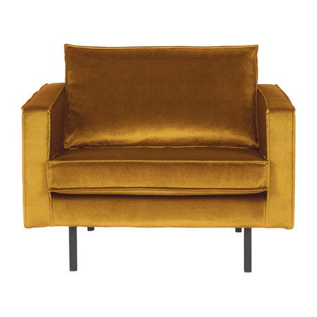 BePureHome Fauteuil Rodeo oker geel fluweel velvet 105x86x85cm