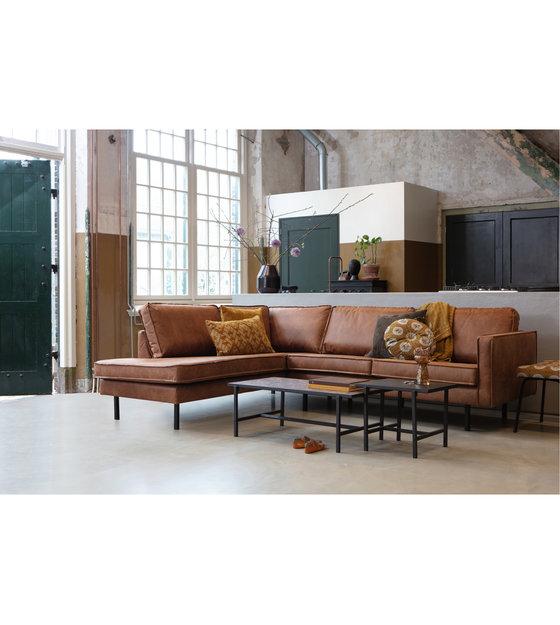 Design Hoekbank Van Leer.Hoekbank Rodeo Links Cognac Bruin Leer 266x88 213x85cm