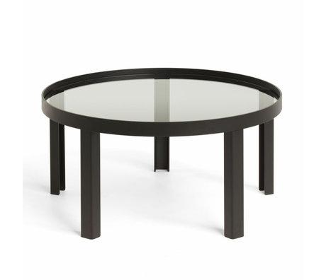 FÉST Table basse Cedric Large en verre noir ø90x35cm