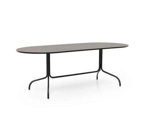 FÉST Table à manger Friday taille ovale métal noir 210x90x72cm