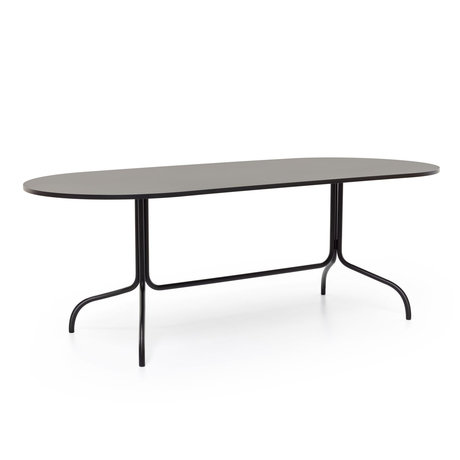 FÉST Dining table Friday oval size black metal 210x90x72cm