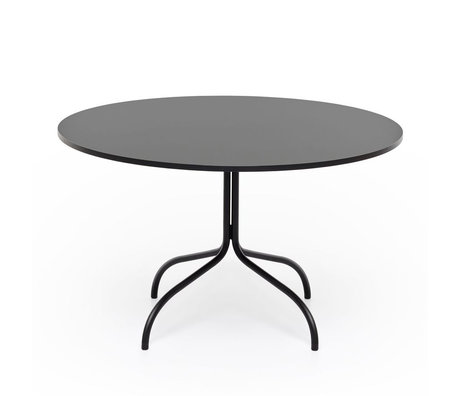 FÉST Dining table Friday round size black metal ø120x72cm