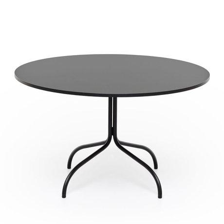 FÉST Esstisch Freitag runde Größe aus schwarzem Metall ø120x72cm