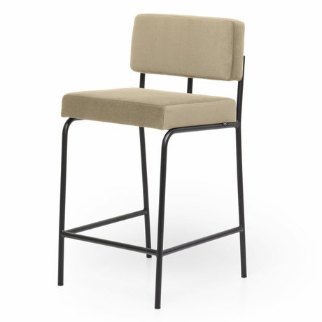 FÉST Bar Stool Monday Counter Juke Khaki 45x45.5x91cm