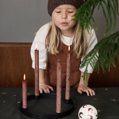 Ferm Living Candle holder Circle black metal Ø38cm