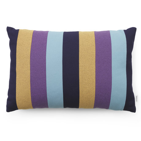 Normann Copenhagen Cushion Line Dusty Blue Multi 60x40cm
