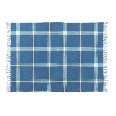 Normann Copenhagen Plaid Check Bleu foncé / Jaune pâle 130x200cm