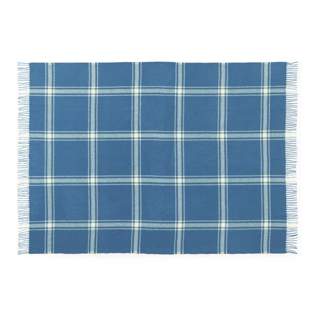 Normann Copenhagen Plaid Check Dark Blue/Pale yellow 130x200cm
